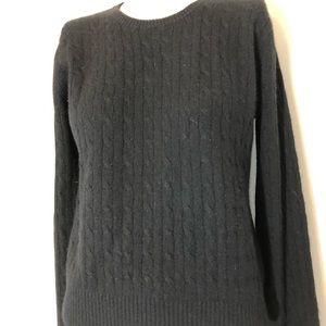 Women's AQUA Black 100% CASHMERE Sweater size M